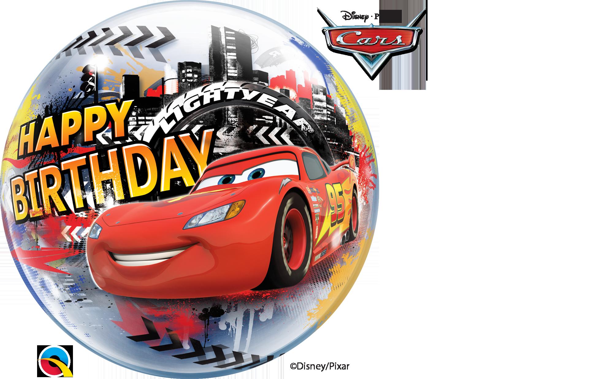 Ballon Paradies Zeulenroda Bubble Ballon Cars Happy Birthday