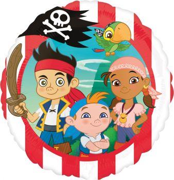 Folienballon - Jake und die Nimmerland Piraten (heliumgefüllt)